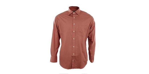 Pánská oranžová košile Perry Ellis