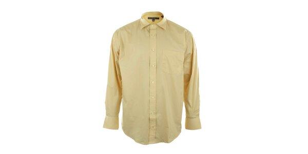 Pánská žlutá košile se špičatým límečkem Perry Ellis