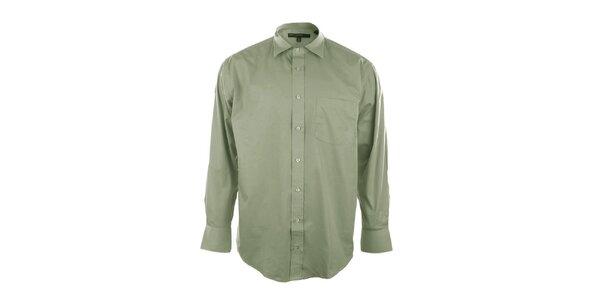 Pánská košile v kaktusové barvě se špičatým límečkem Perry Ellis