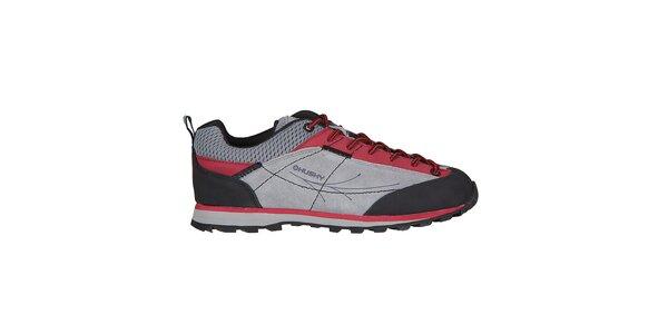 Dámské stříbrno-červené boty Husky