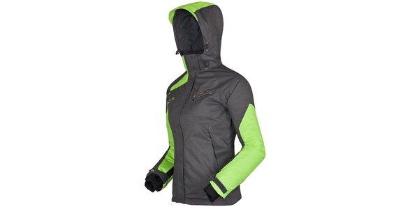 Dámská šedo-zelená bunda Husky