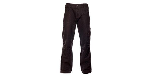 Pánské kouřově šedé bavlněné kalhoty Hannah