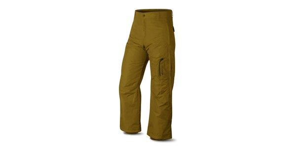 Pánské hnědožluté lyžařské kalhoty Hannah s membránou