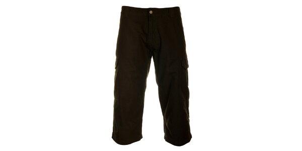 Pánské antracitově černé 3/4 kalhoty Hannah