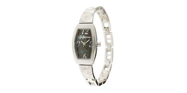 Dámské ocelové hodinky Oxbow s černým ciferníkem