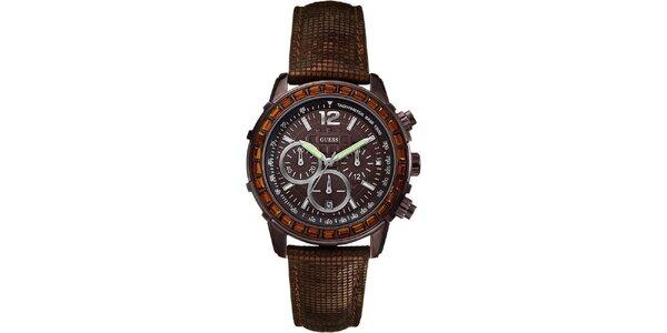 Dámské hnědé hodinky Guess