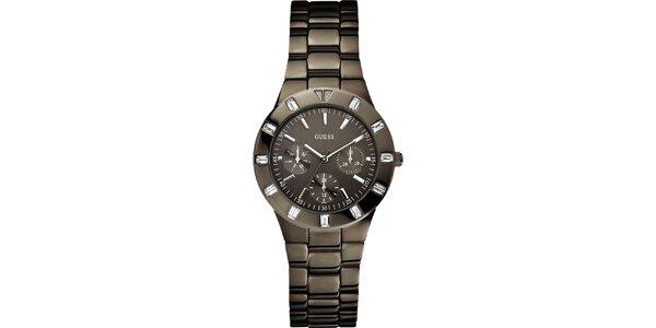 Dámské elegantní hodinky z oceli Guess