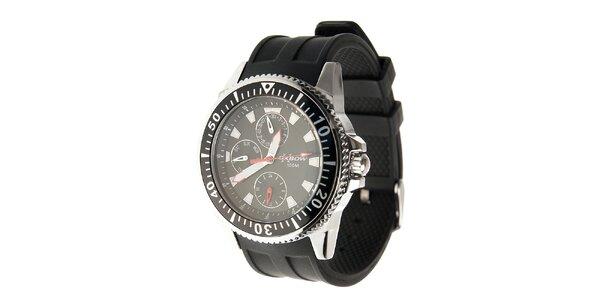 Pánské sportovní hodinky Oxbow s černým pryžovým řemínkem
