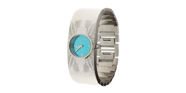 Dámské ocelové hodinky Oxbow s azurově modrým ciferníkem