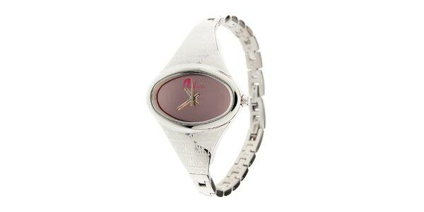 Dámské ocelové hodinky Oxbow s růžovým ciferníkem