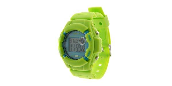 Pánské světle zelené digitální hodinky Oxbow