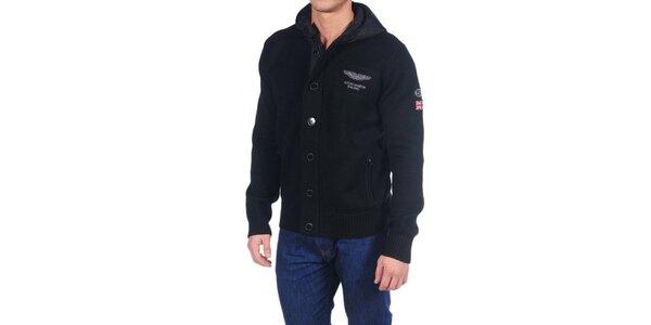 Pánská černá propínací bunda Hackett London