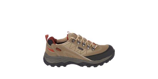 Pánské béžové šněrovací boty Praylas