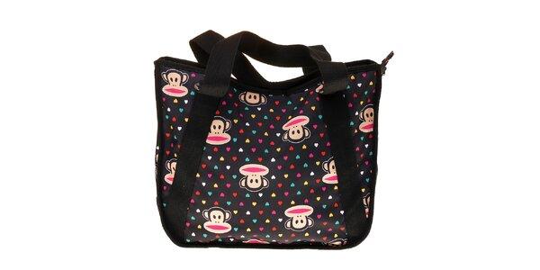 Dámská černá taška Paul Frank s barevným potiskem