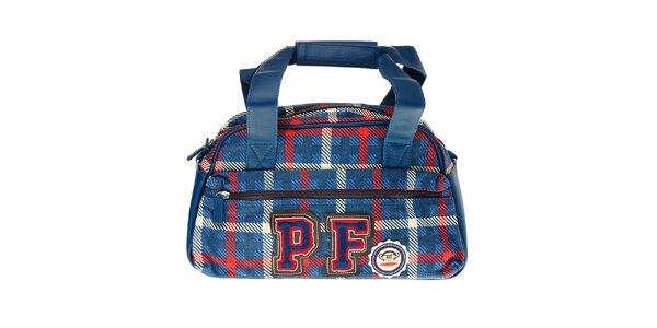 Modrá kostkovaná kabelka Paul Frank