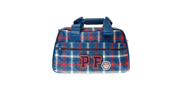 Modrá kostkovaná taška přes rameno Paul Frank