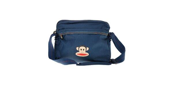Tmavě modrá taška přes rameno Paul Frank