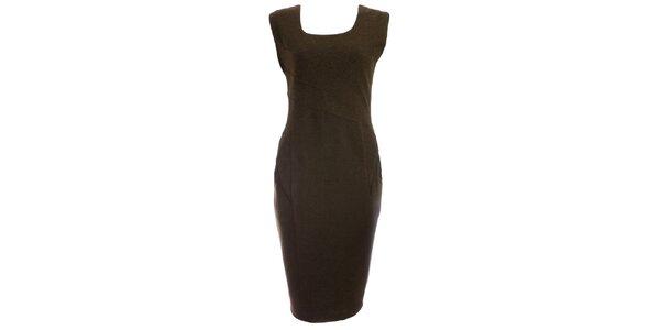Dámské khaki pouzdrové šaty JDC London