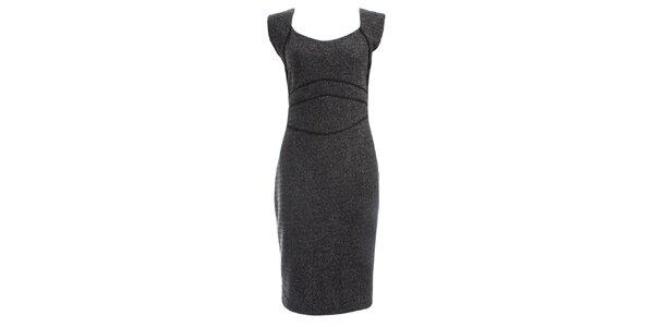 Dámské šedočerné šaty JDC London