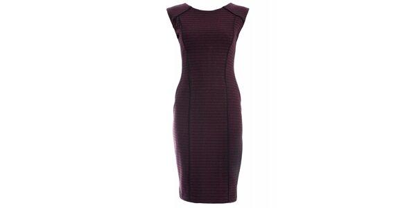 Dámské vínové šaty JDC London pouzdrového střihu