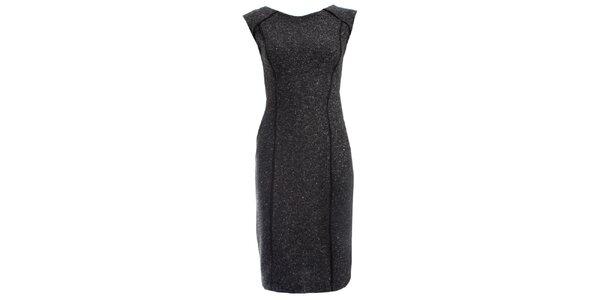 Dámské šedočerné šaty JDC London pouzdrového střihu