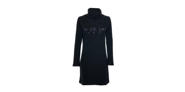 Černé dámské šaty s rolákem značky Lois