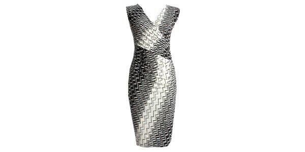 Dámské černokrémové zavinovací šaty JDC London