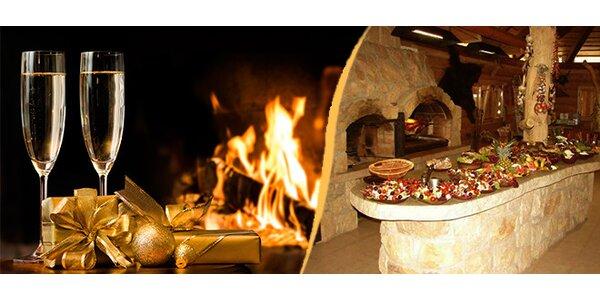 Silvestrovský večer pro 2 osoby na Ranči u Bašty s bohatým rautem a živou…