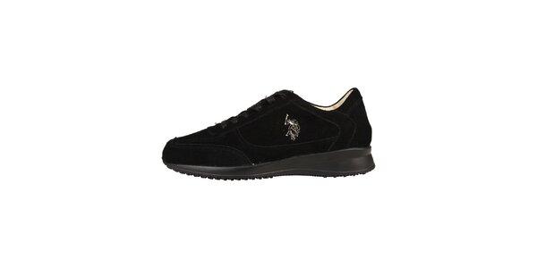 Pánské černé semišové šněrovací boty U.S. Polo