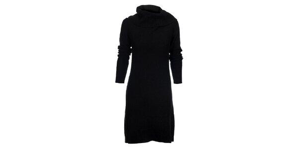 Dámské černé pletené šaty Tommy Hilfiger