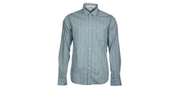 Pánská modro-zelená kostkovaná košile Tommy Hilfiger