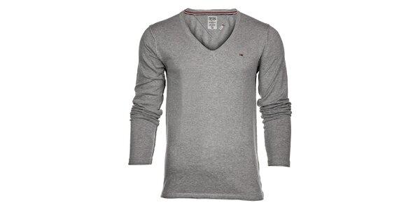 Pánský světle šedý svetr Tommy Hilfiger