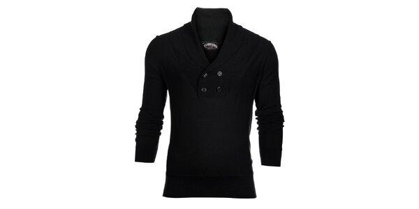 Pánský černý svetr s límcem Tommy Hilfiger