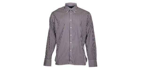Pánská bílá proužkovaná košile Tommy Hilfiger