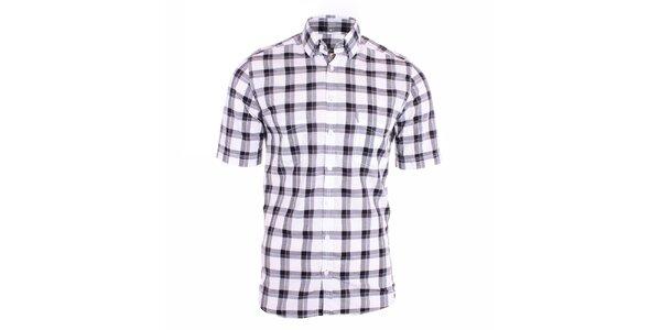 Pánská černobílá károvaná košile Pietro Filipi