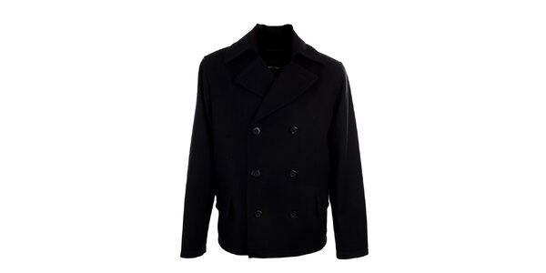 Pánský krátký černý dvouřadý kabátek Pietro Filipi