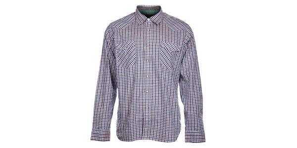Pánská modrorůžová kostičkovaná košile Tommy Hilfiger