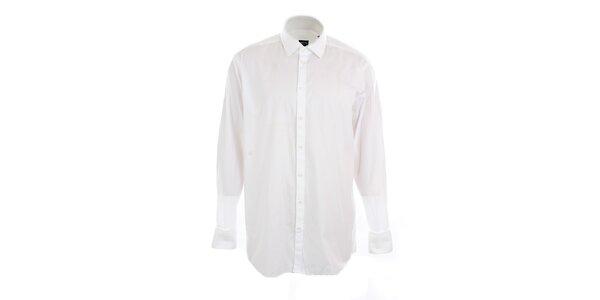 Pánská bílá obleková košile s proužkem Pietro Filipi