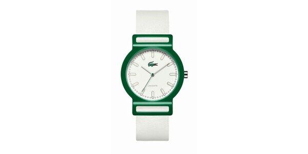 Pánské zeleno-bílé hodinky Lacoste