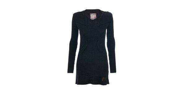 Pletené tmavě šedé šaty značky Lois