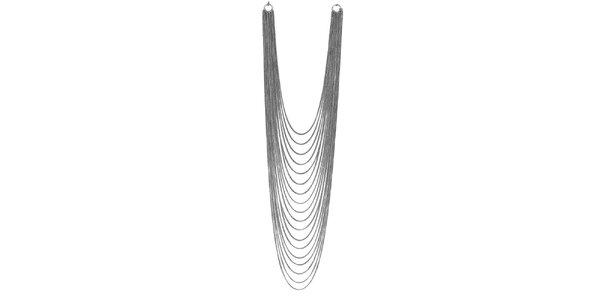 Dámský mnohařadý stříbrně tónovaný náhrdelník Esprit
