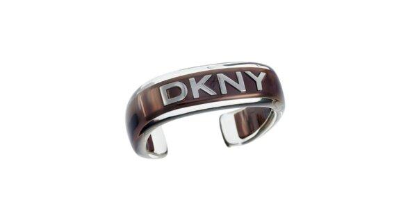 Dámský náramek s hnědým proužkem DKNY