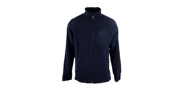 Pánská tmavě modrá fleecová mikina Authority