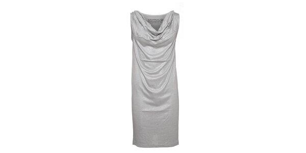 Dámské stříbrné šaty Lois se stříbrnými třpytkami
