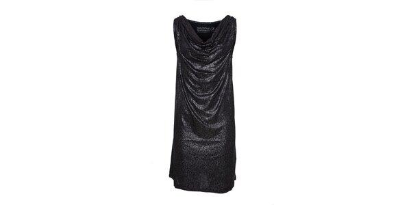 Dámské černé šaty Lois se stříbrnými třpytkami