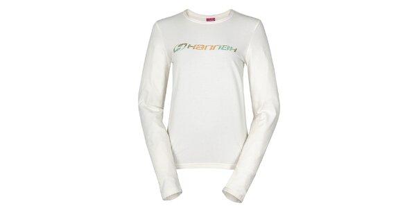 Dámské bílé tričko Hannah s potiskem