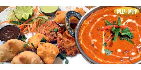 Autentické indické menu pro dva v restauraci Dilli Delhi
