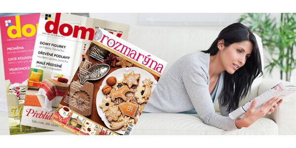 Roční předplatné časopisu DOMOV + druhý časopis ZDARMA