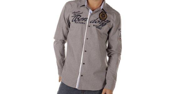 Pánská šedá košile Bendorff