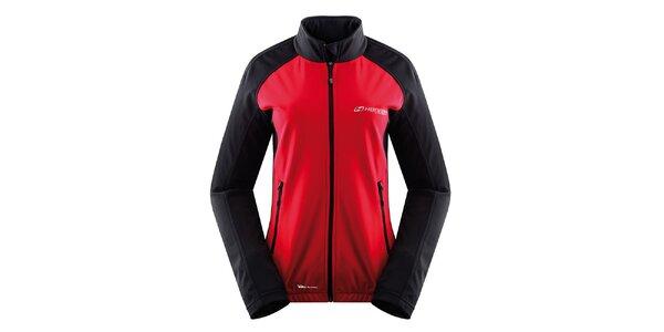 Dámská černo-červená softshellová bunda Hannah